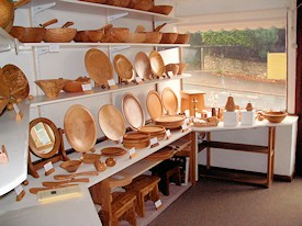 woodturning shop interior gloucestershire